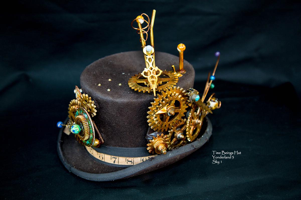 steampunk clockwork hat